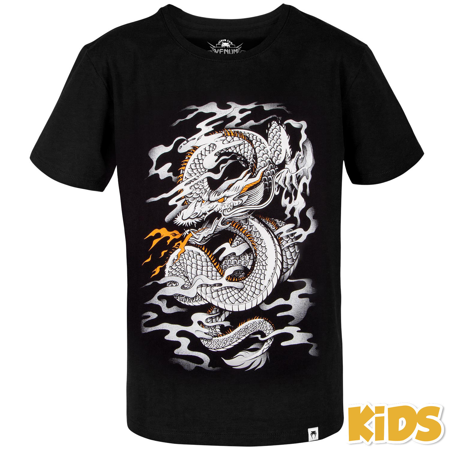 Купить Футболка детская Venum Dragon's Flight Kids T-shirt - Black/White, 5615_bk_wh