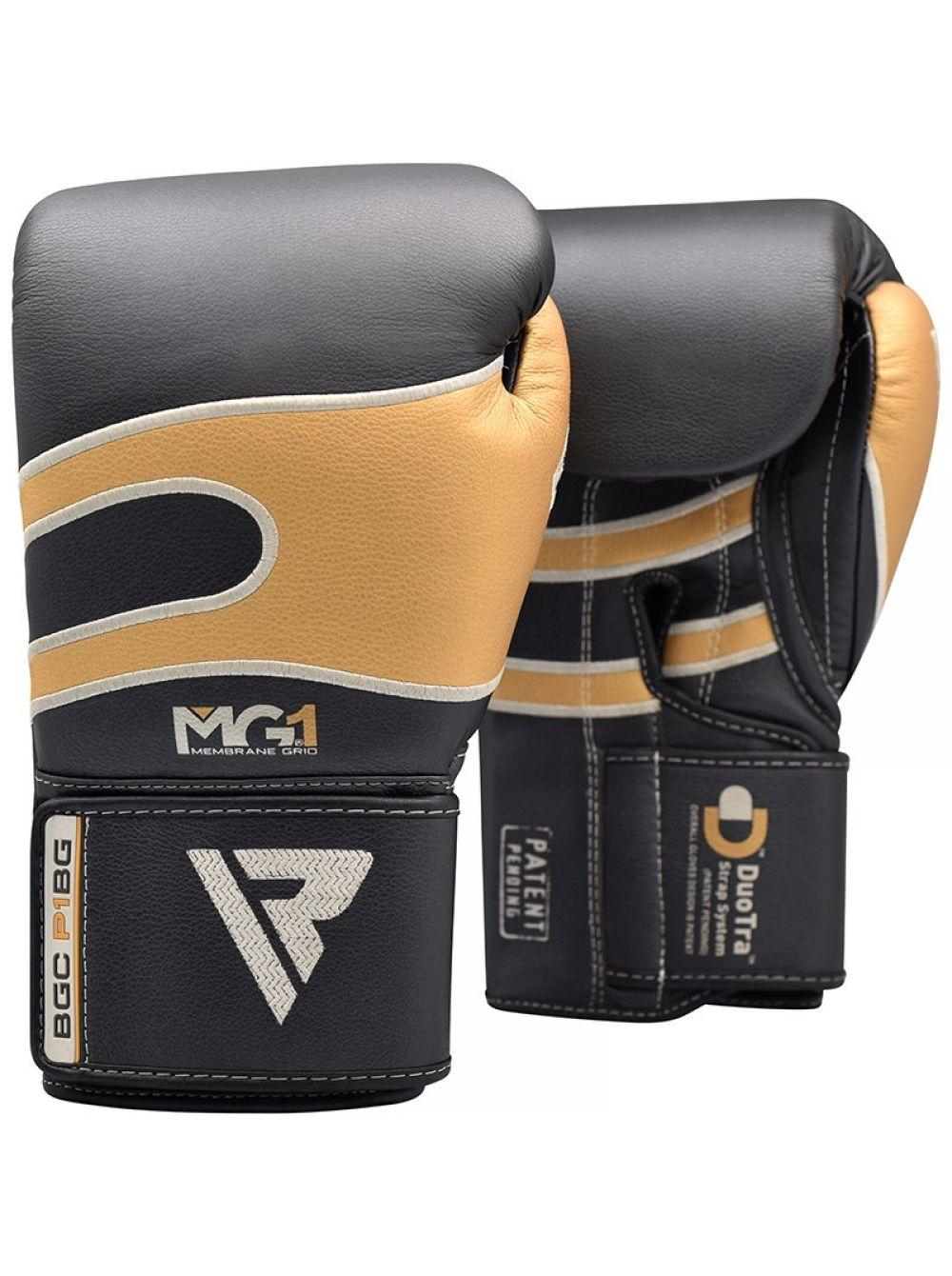 Купить Перчатки для бокса RDX Boxing Glove BGC-P1 Black/Gold, 6376_bk_gd