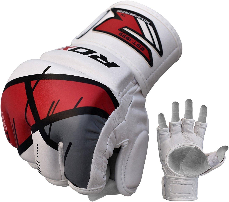 Купить Перчатки для ММА RDX Grappling Gloves Rex Red T7 , 4161_wh_rd