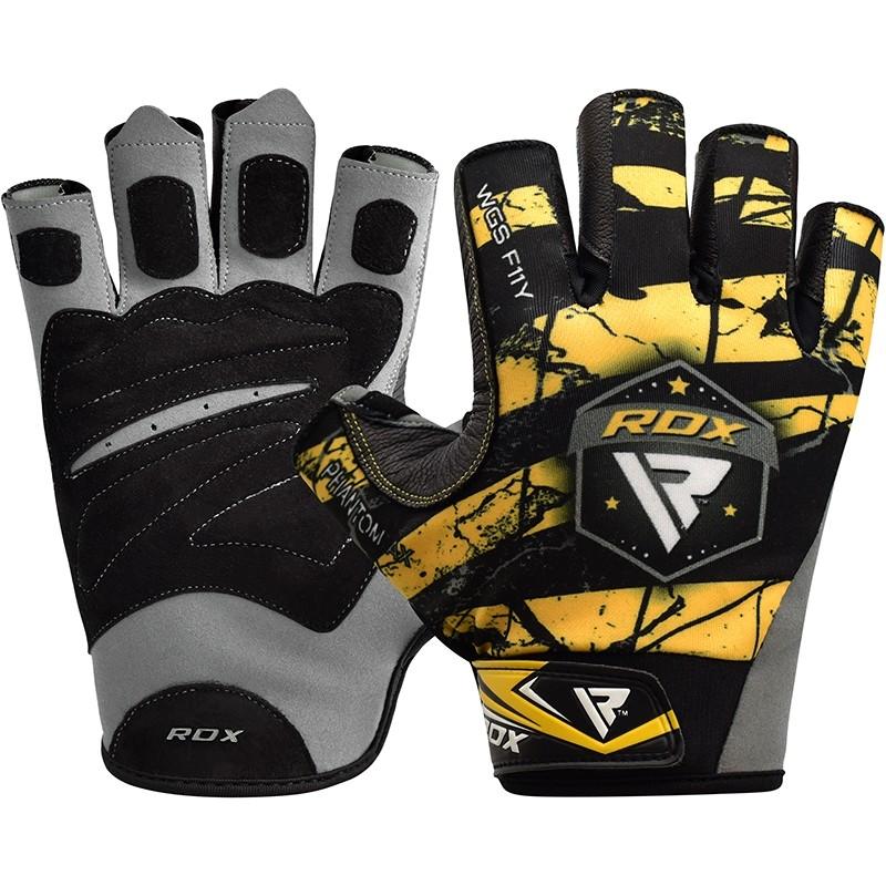 Купить Перчатки для пауэрлифтинга RDX F11 Bodybuilding Gym Gloves, 6275_bk_yl