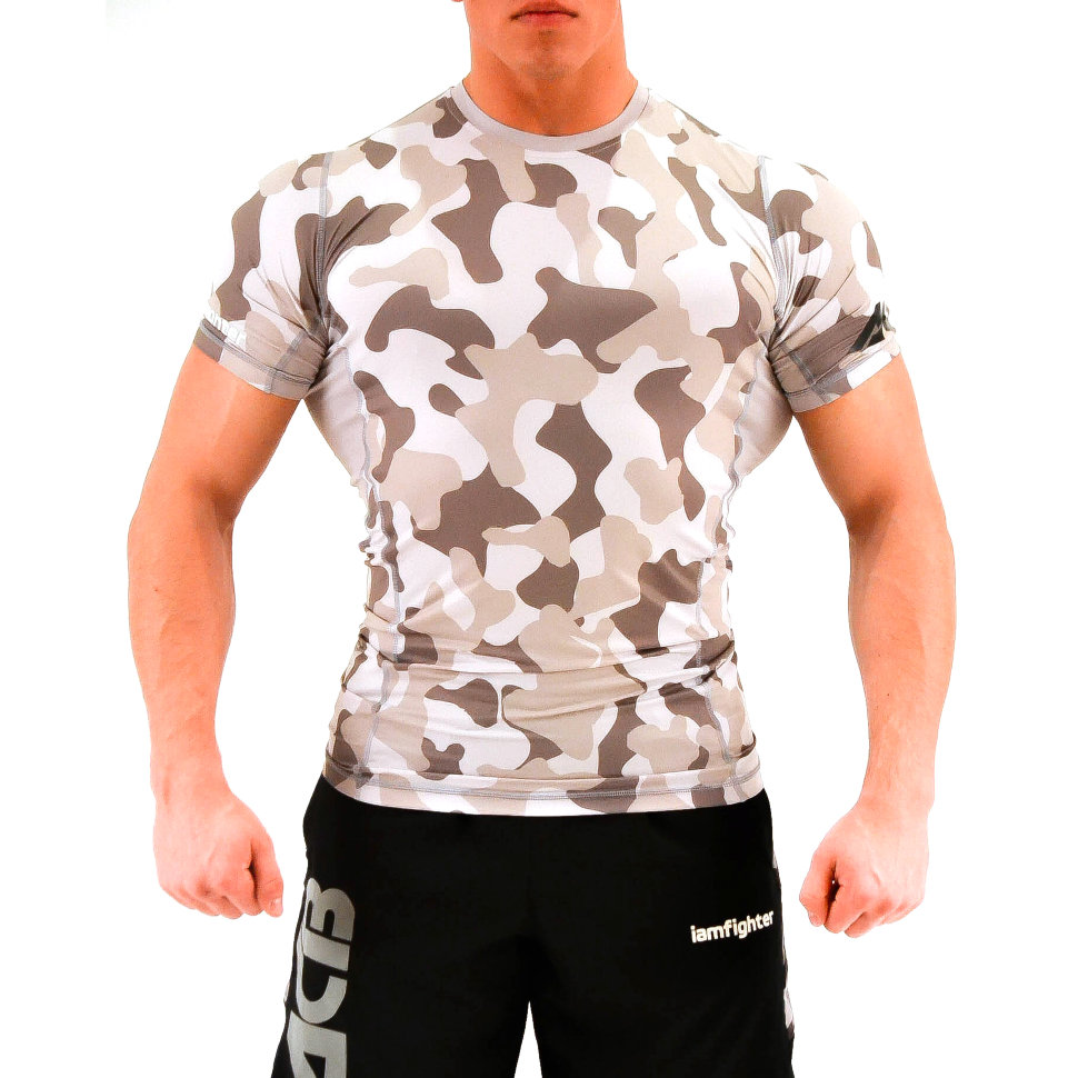 Рашгард Iamfighter - Short Sleeves - Grey Camo