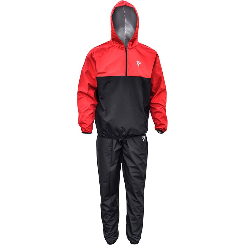 Костюм-сауна RDX X6 Hooded Sauna Sweat Suit Black/Red