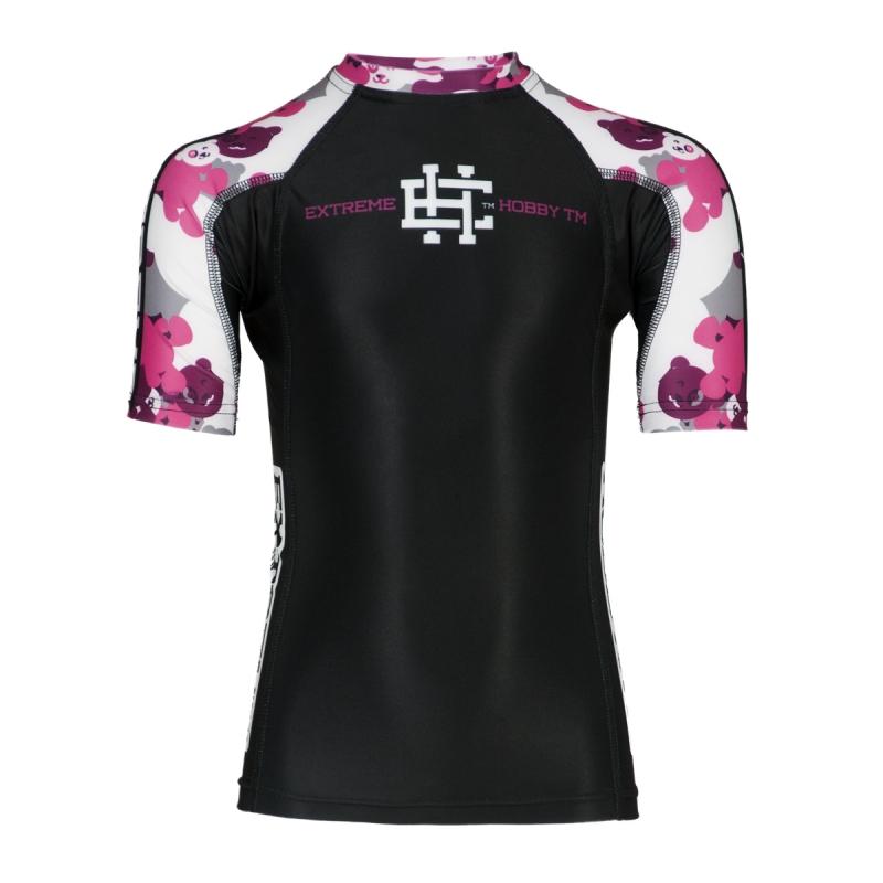 Купить Рашгард Детский Extreme Hobby Kids Teddy Bear Short Sleeve Pink, 5879_bk_pk