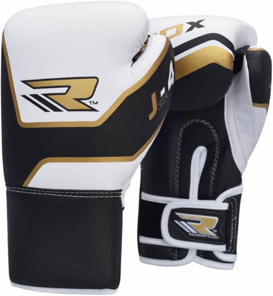 Купить Детские перчатки RDX 6oz Junior Boxing Gloves J-4G White/Golden, 3242_wh_gd