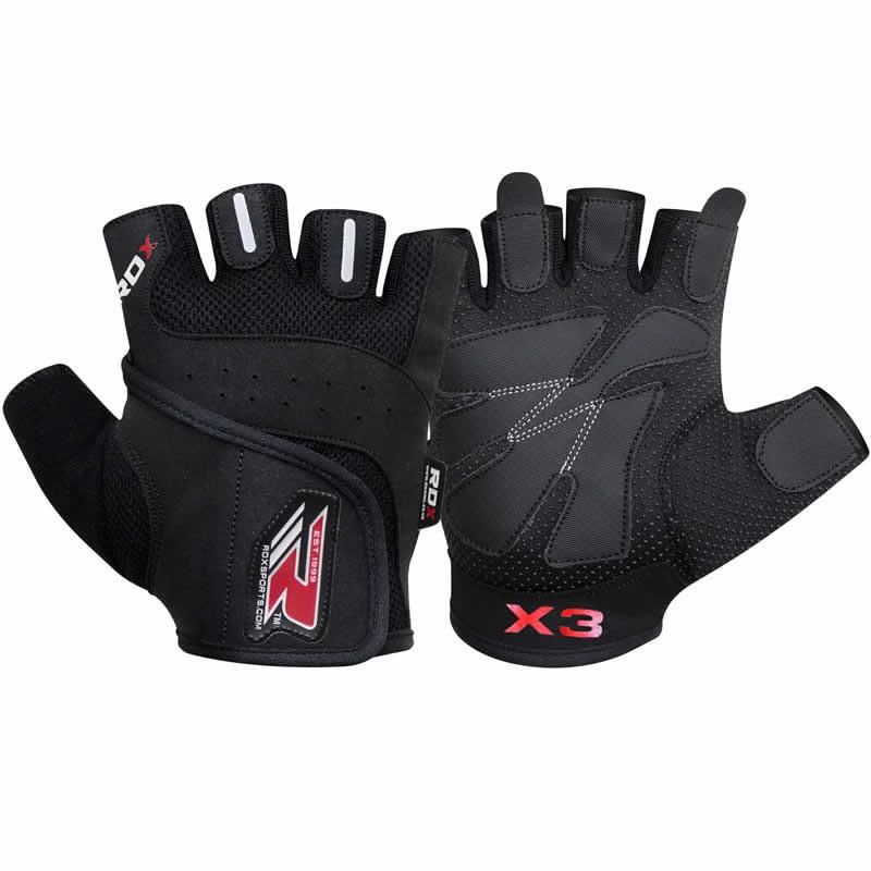 Купить Перчатки для пауэрлифтинга RDX Amara Bodybuilding Weight Lifting Gloves, 4179_bk