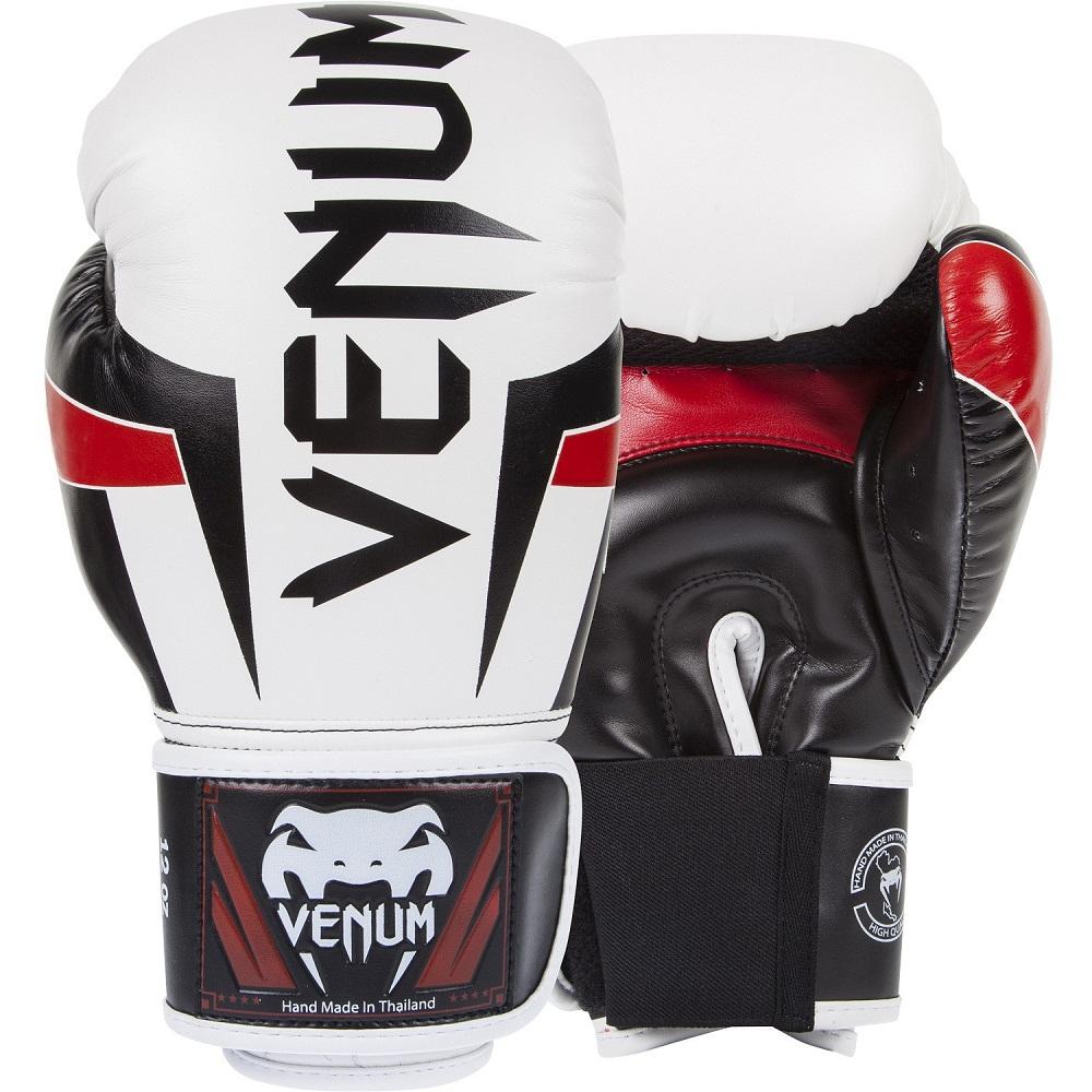 Купить Перчатки для бокса Venum Elite Boxing Gloves - Ice/Black/Red, 9171_wh_bk