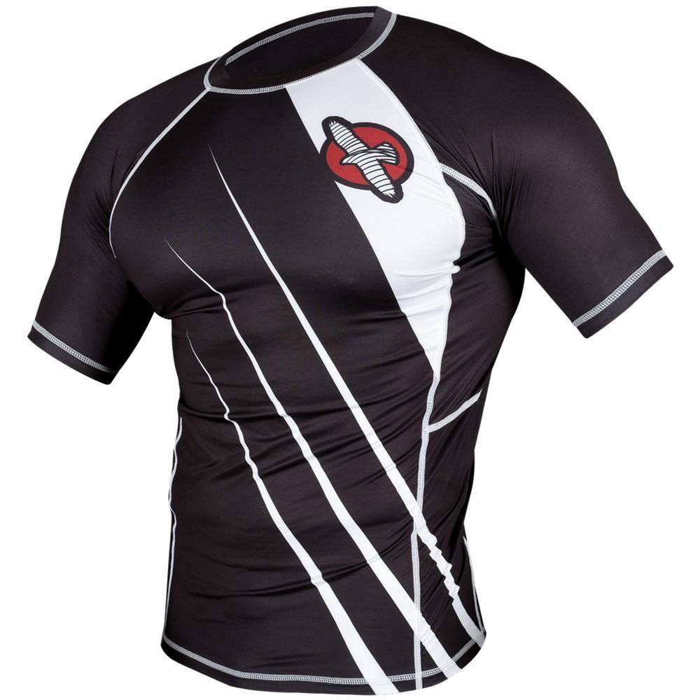Купить Рашгард Hayabusa Recast Rashguard Short Sleeve - Black/White, 3339_bk