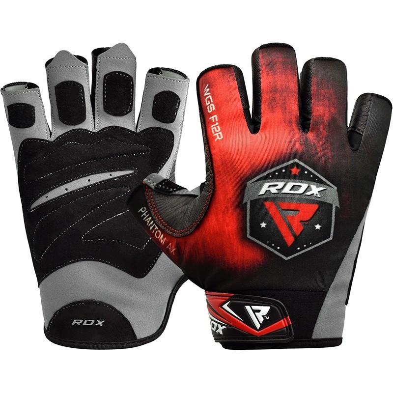 Купить Перчатки для пауэрлифтинга RDX F12 Weightlifting Gym Gloves, 6276_bk_rd