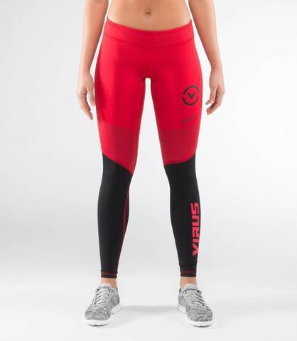 Купить Компрессионные штаны женские Virus V2 Pant ECO21.5 Red/Black&, 4743_bk_rd