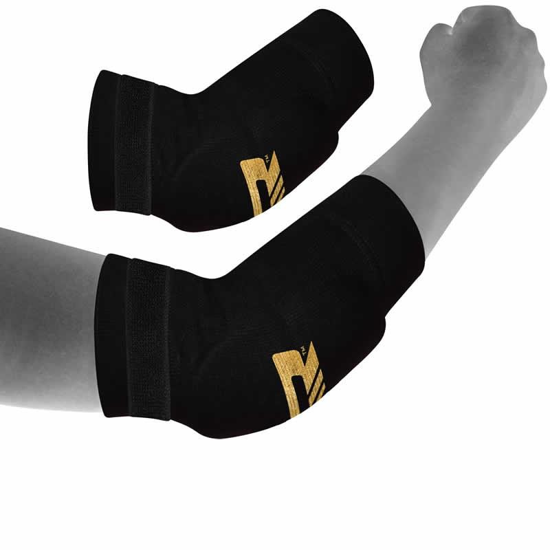 Купить Налокотники RDX K1 Elbow Pads Brace Support Protection Black/Gold, 4176_bk
