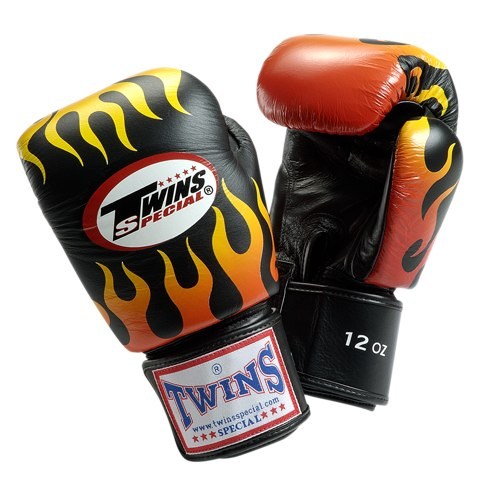 Купить Перчатки для бокса Twins Special FBGV-7 (Black), 3277_bk_rd_yl