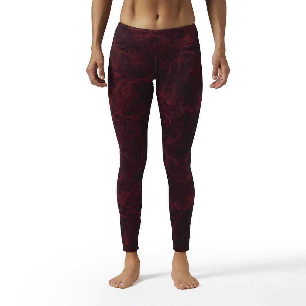 Купить Компрессионные штаны женские UFC/Reebok Combat Lux Bold Red&, 4989_rd
