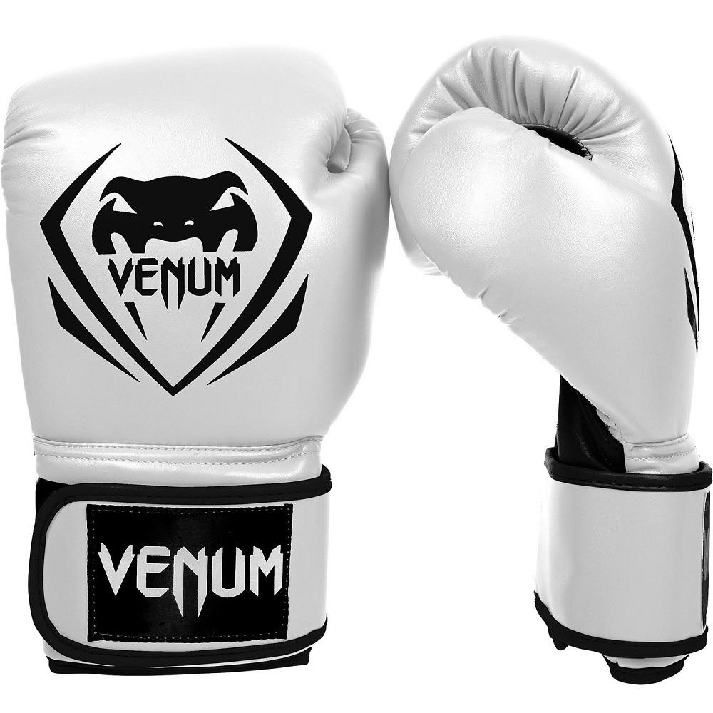 Купить Перчатки для бокса Venum Contender Boxing Gloves - White, 3141_wh