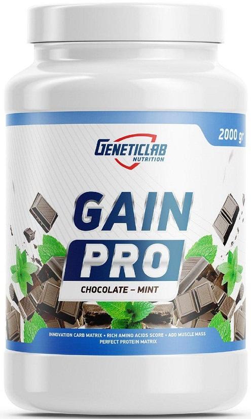 Гейнер Geneticlab Gain Pro 2000gr/20serv Chocolate/Mint, 5736_ch_mn  - купить со скидкой