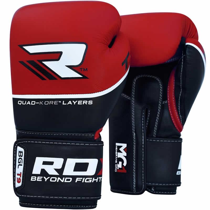 Купить Перчатки для бокса RDX BOXING GLOVE BGL-T9 RED Уценка (12), 5500_bk_rd