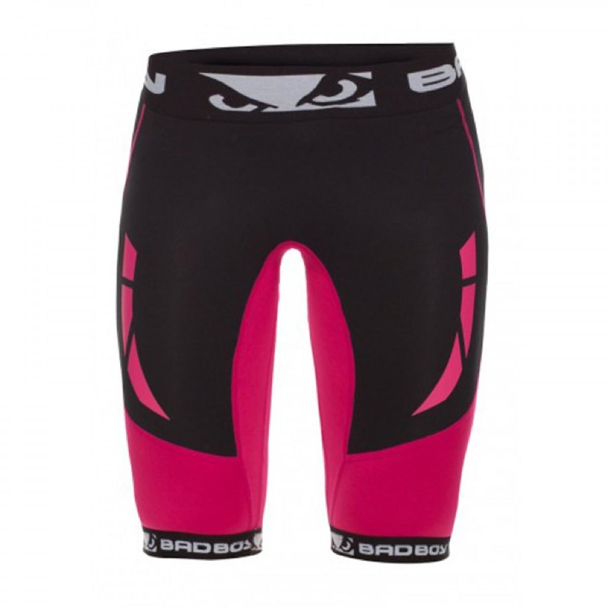 Купить Компрессионные шорты женские Bad Boy Ladies Sphere Shorts - Pink&, 3042_bk_pk