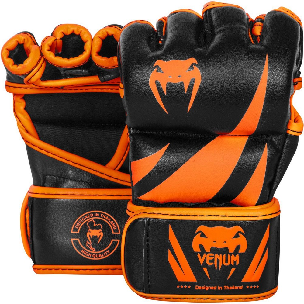 Купить Перчатки для ММА Venum Challenger MMA Gloves Neo Orange/Black, 4095_bk_or