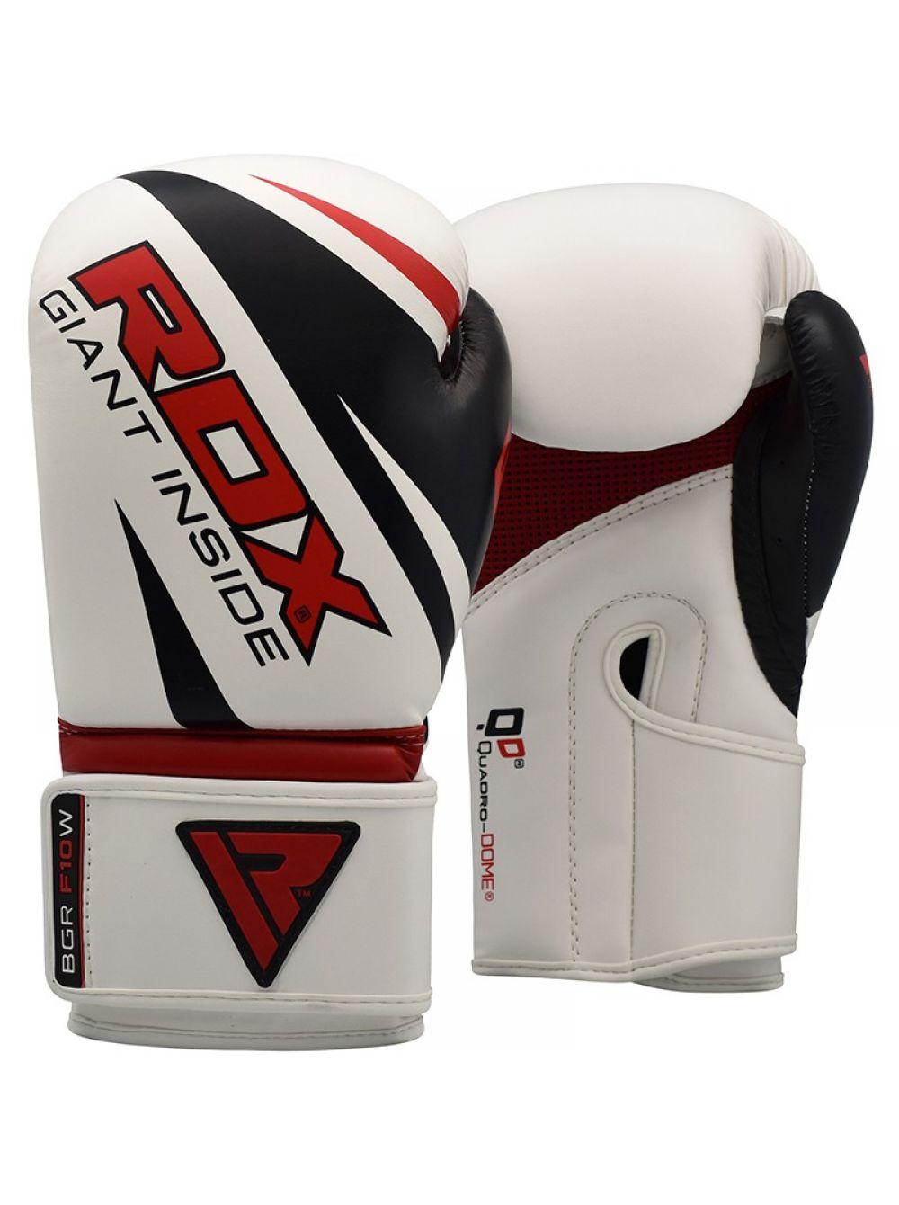 Купить Перчатки для бокса RDX Boxing Gloves REX F10 White, 6013_wh
