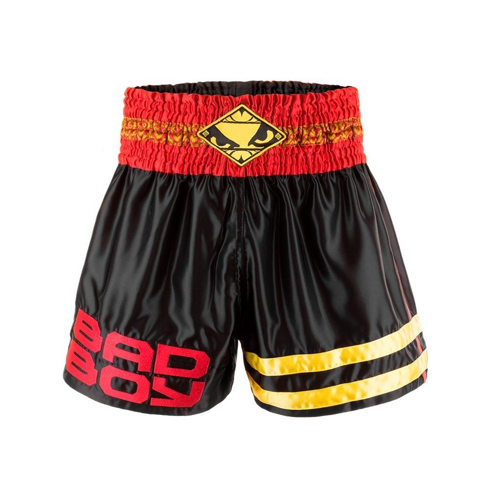 Купить Шорты Bad Boy Tii Sok Muay Thai Shorts - Black/Red/Gold, 5148_bk_rd_gd