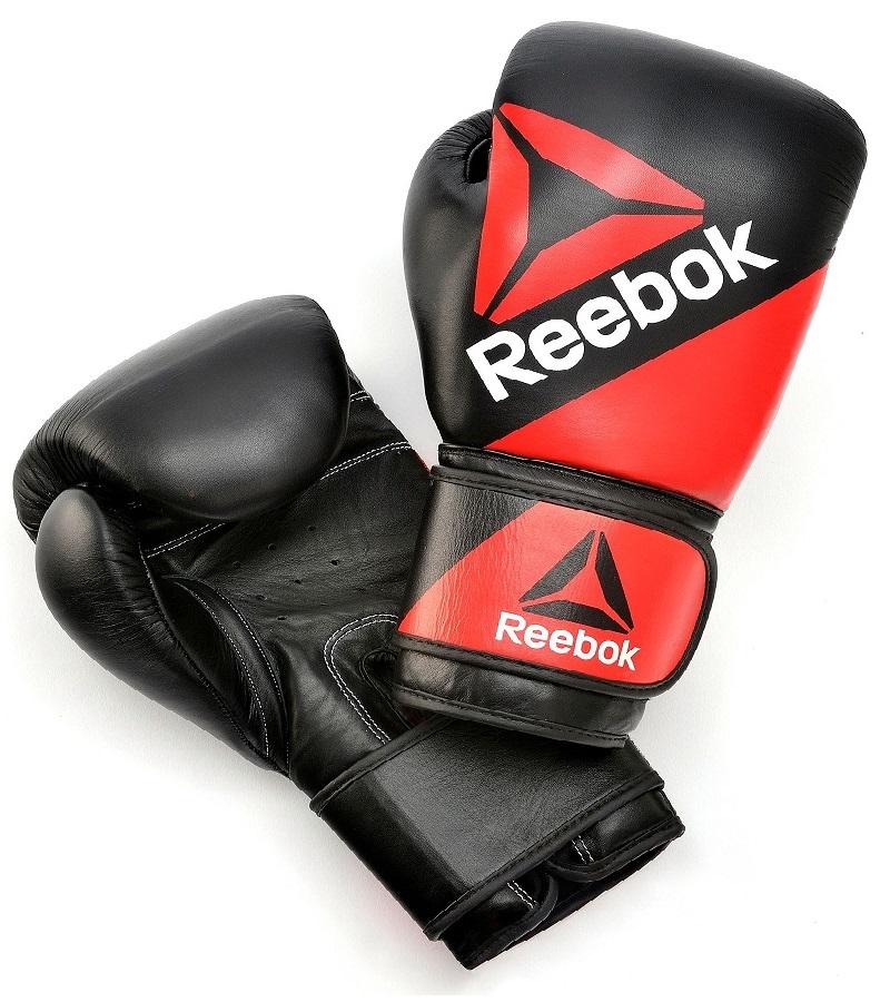 Купить Перчатки для бокса UFC/Reebok Leather Training Glove, 5015_bk_rd