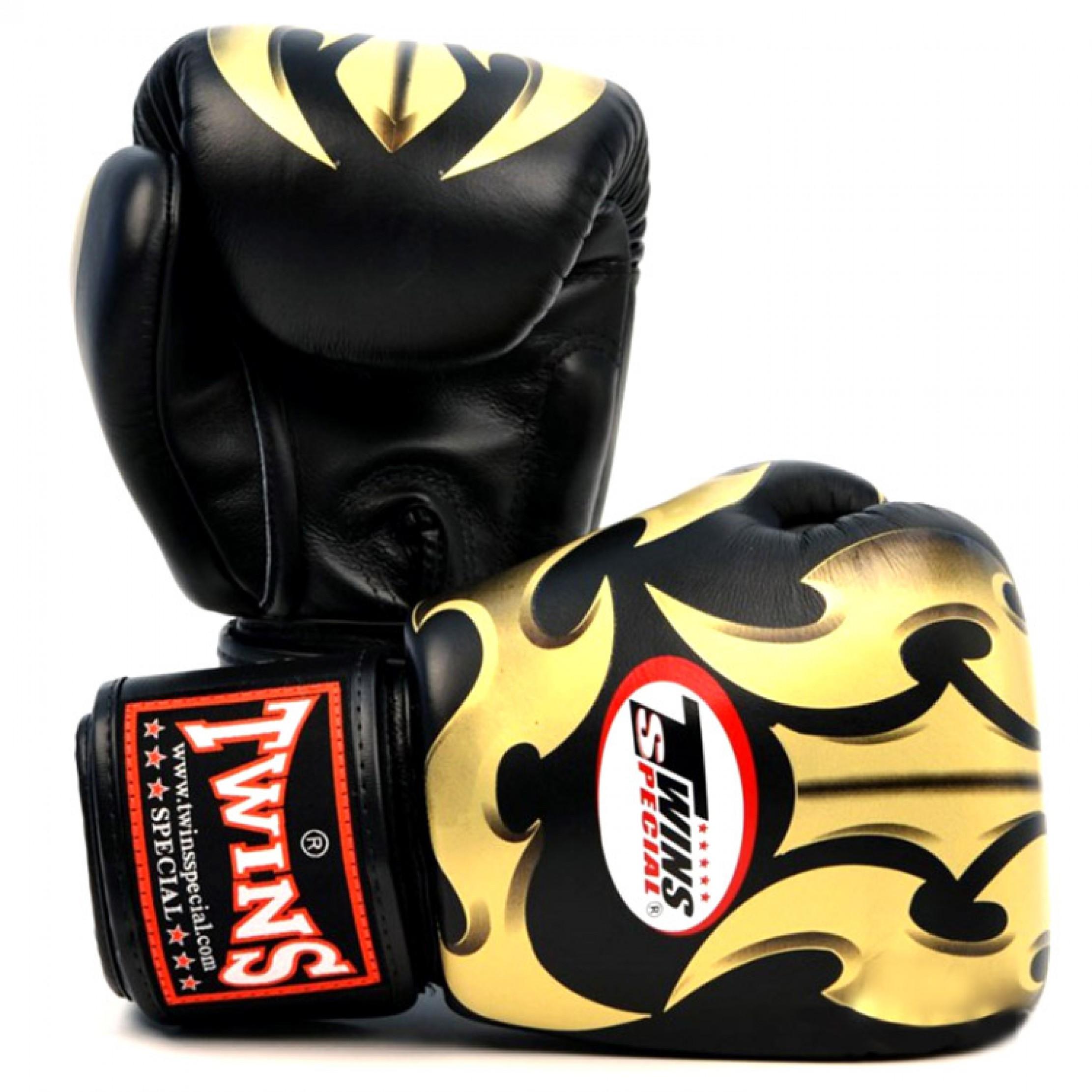 Купить Перчатки для бокса Twins Special FBGV-22G (Black), 3266_bk_gd