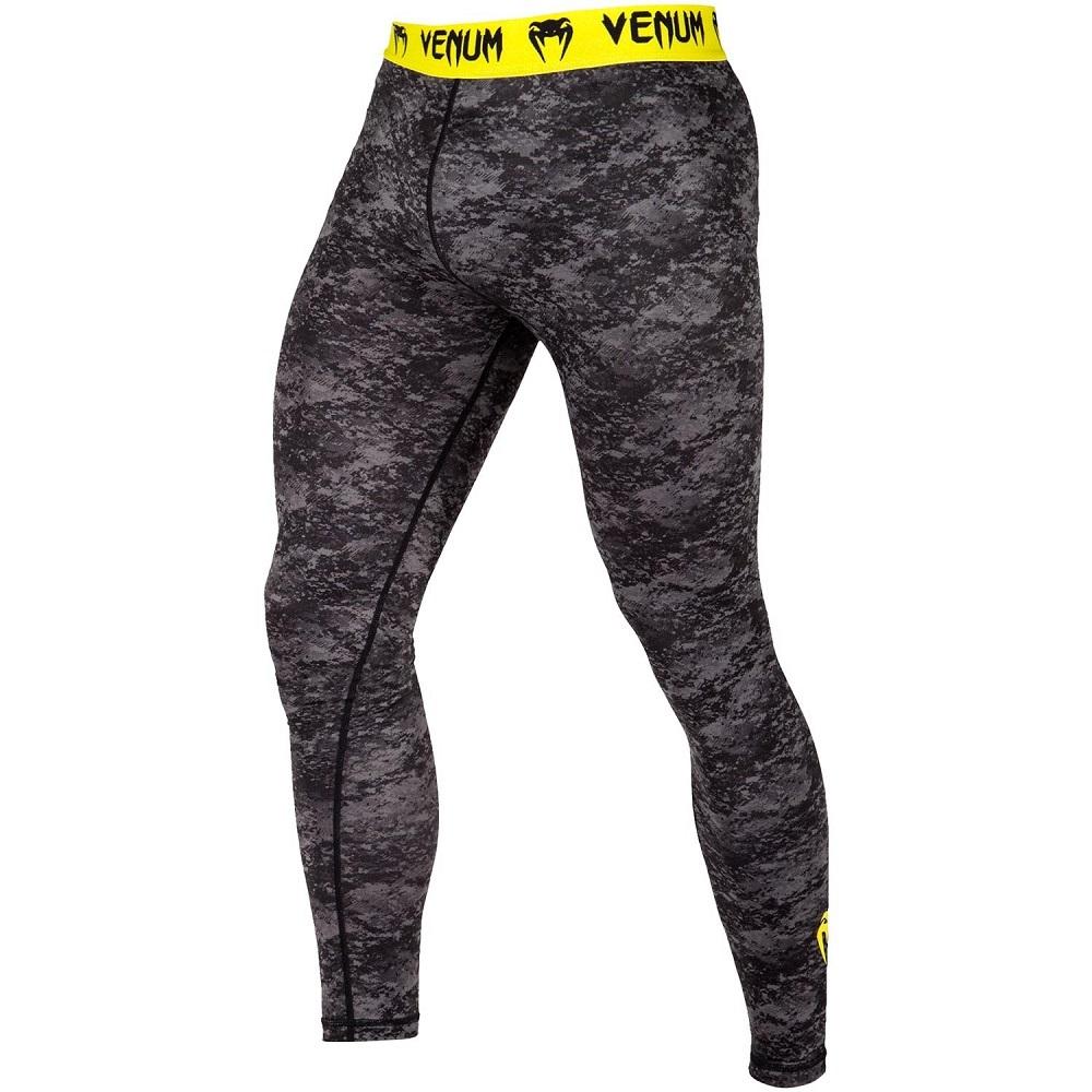 Купить Компрессионные штаны Venum Tramo LONG SPATS BLACK/YELLOW, 6156_gy_bk
