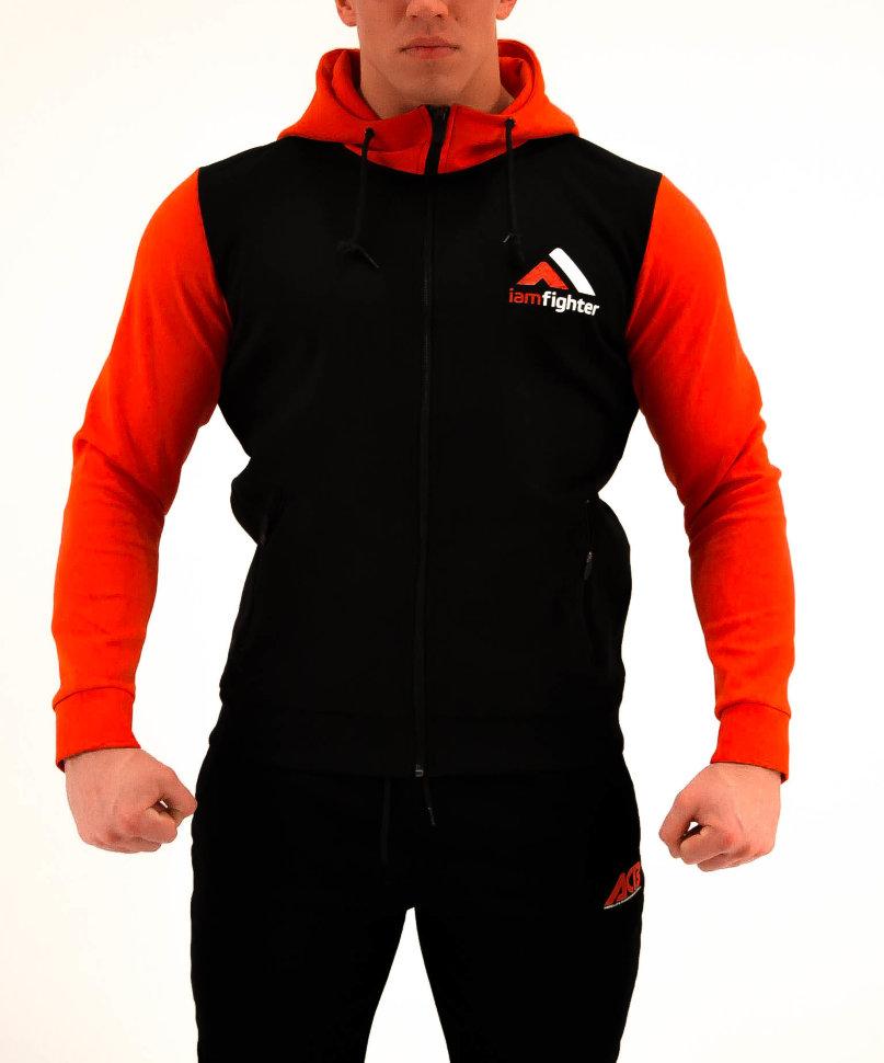 Купить Толстовка Iamfighter Hoody Basic Black/Red, 6322_bk_rd