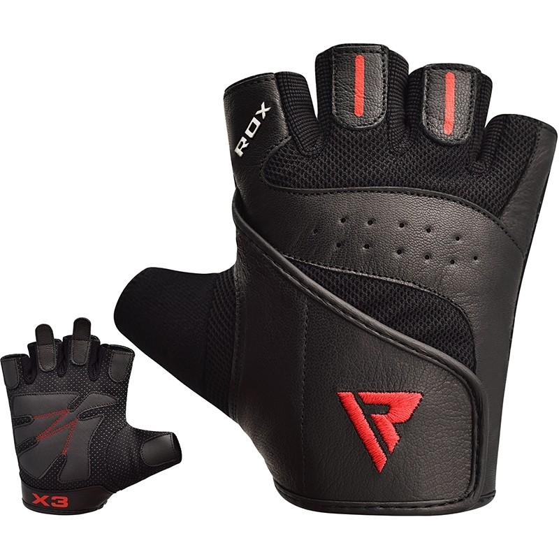 Купить Перчатки для пауэрлифтинга RDX Gum Glove Leather S2 Black, 5452_bk
