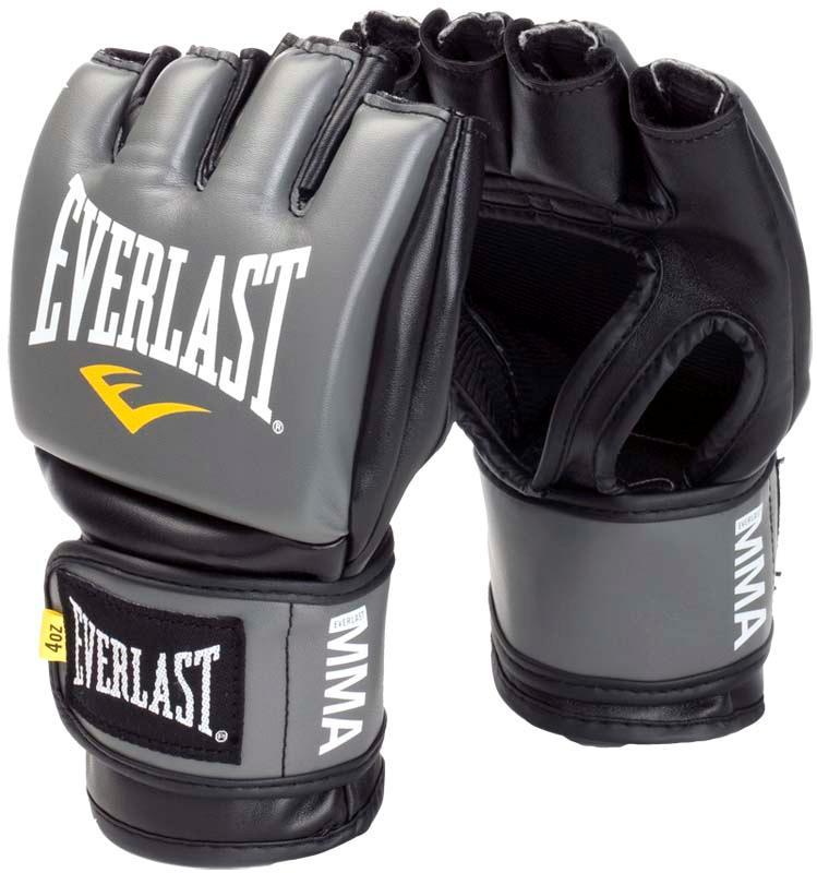 Купить Перчатки для ММА Everlast Pro Style Grappling Grey, 5840_gy
