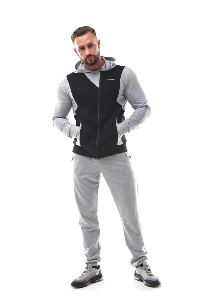 Купить Толстовка Dzeta 0303 Black/Grey, 6565_bk_gy