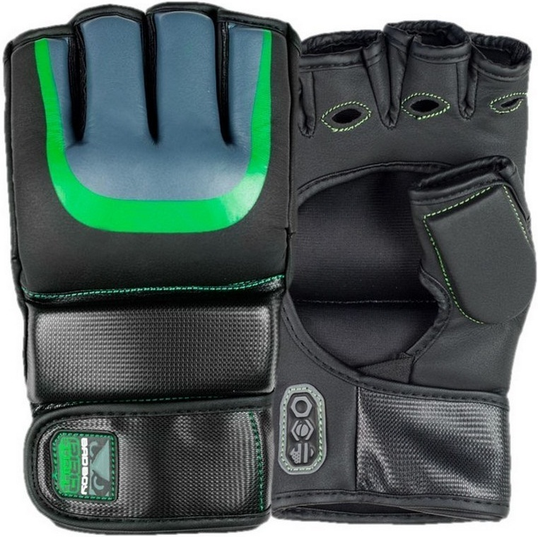 Купить Перчатки для ММА Bad Boy Pro Series 3.0 Gel MMA Gloves - Green, 4487_bk_gr