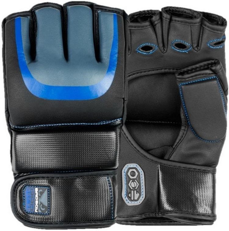 Купить Перчатки для ММА Bad Boy Pro Series 3.0 Gel MMA Gloves - Blue&, 4487_bk_bl