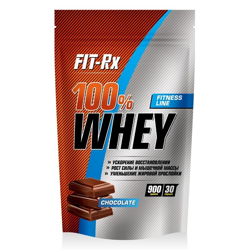 Купить Протеин Fit-Rx 100% Whey 900г Chocolate, 5616_choc