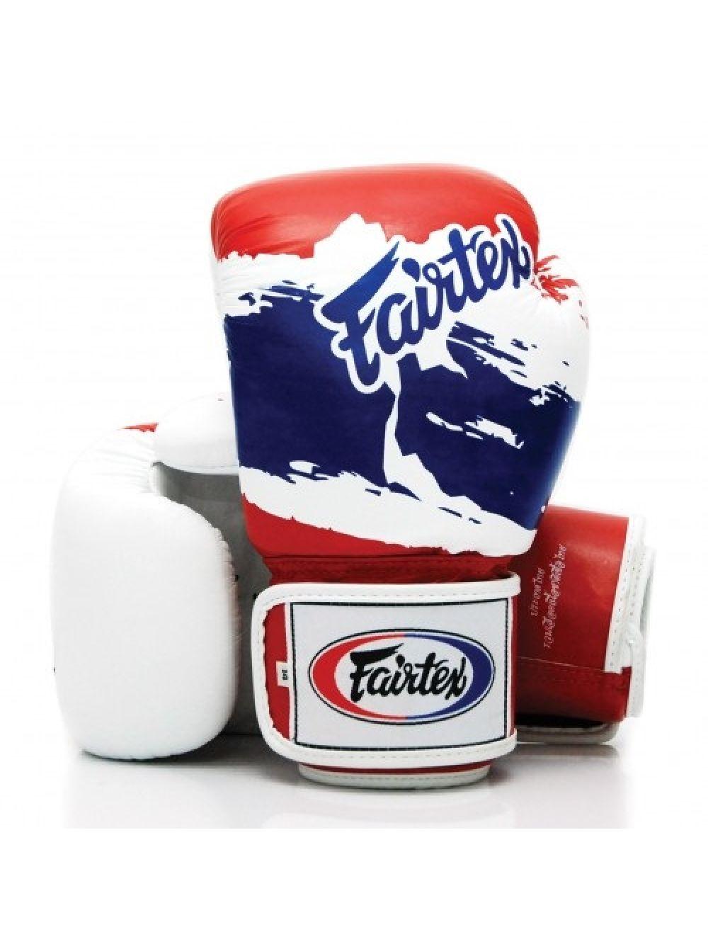 Купить Перчатки для бокса Fairtex Boxing gloves BGV1 Thai Pride White/Red, 5032_wh_rd