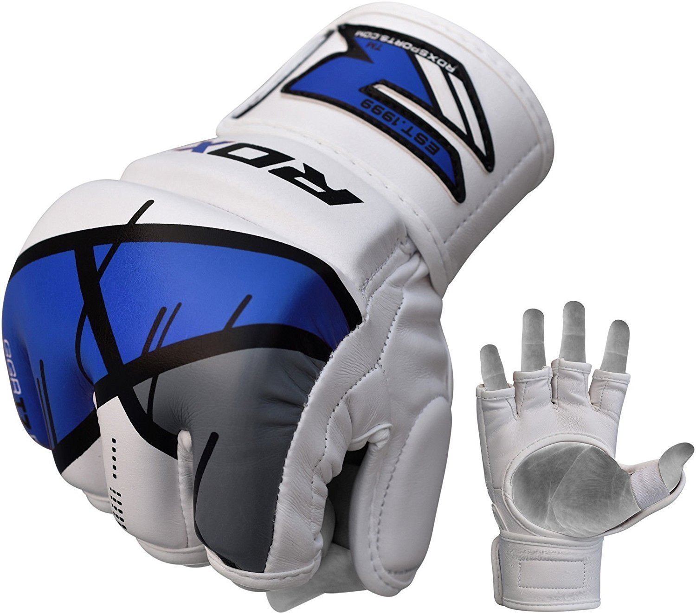 Купить Перчатки для ММА RDX Grappling Gloves Rex T7 Blue, 4161_wh_bl