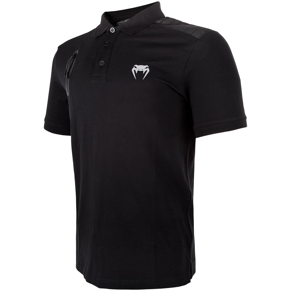 Футболка Venum Laser Polo - Black фото 2