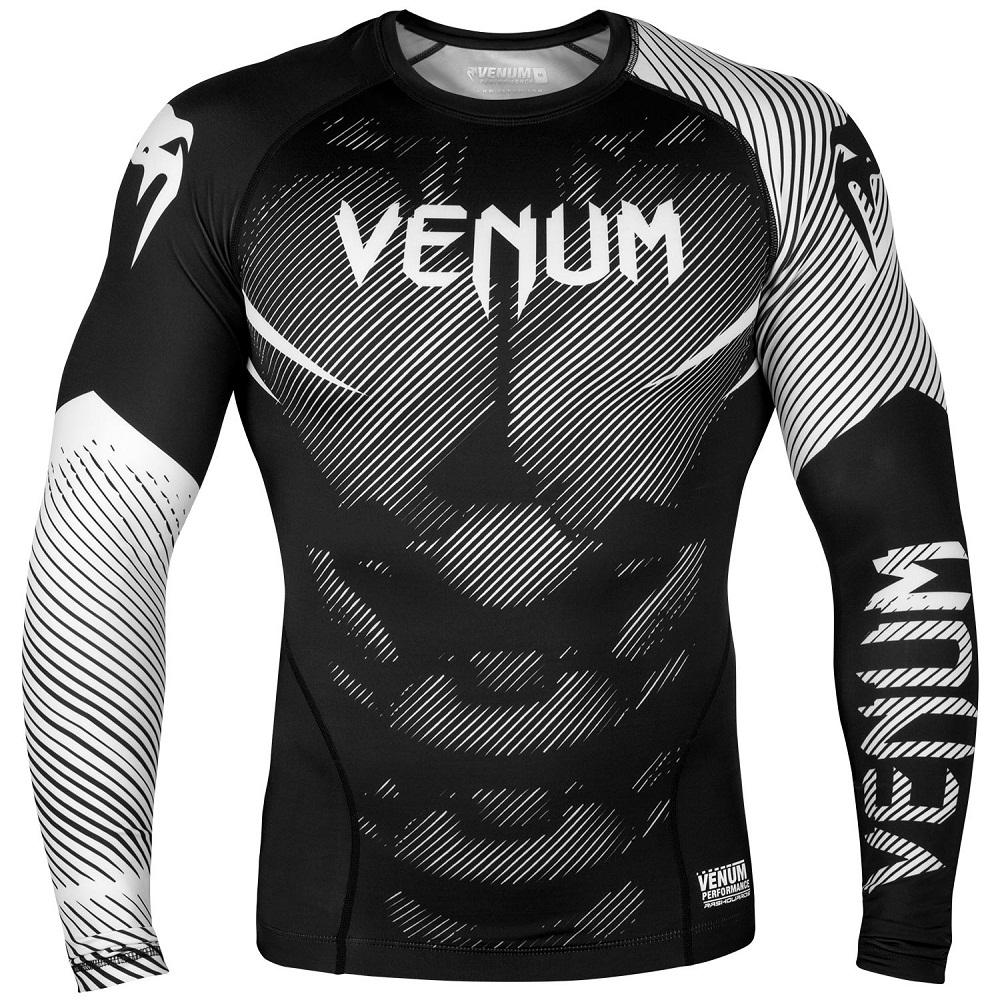Купить Рашгард Venum NoGi 2.0 Rashguard Long Sleeves Black/White, 6620_bk_wh