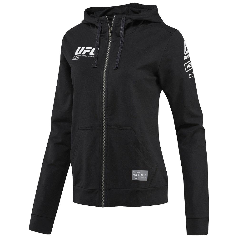 Толстовка женская UFC/Reebok Black&, 4996_bk  - купить со скидкой