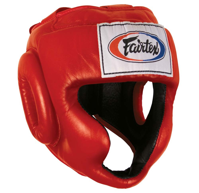 Купить Шлем Fairtex Headguard HG3 Red, 5048_rd