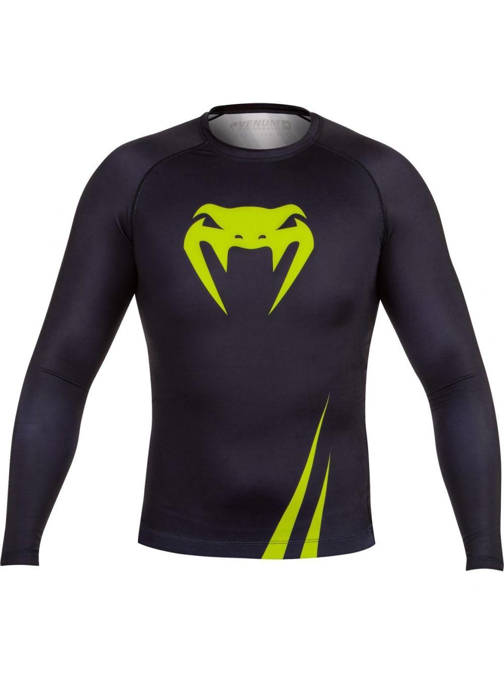 Купить Рашгард Venum Challenger Rash Guard Long Sleeves Black/Yellow, 3840_bk_yl
