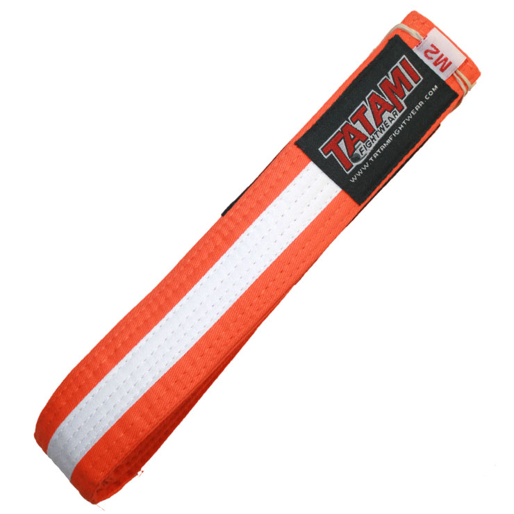 Пояс детский Tatami IBJJF Kids Rank Belts Orange/White
