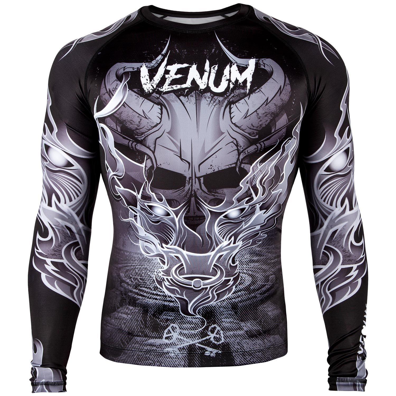 Рашгард Venum Minotaurus Rashguard - Long Sleeves Black/White, 5624_bk_wh  - купить со скидкой