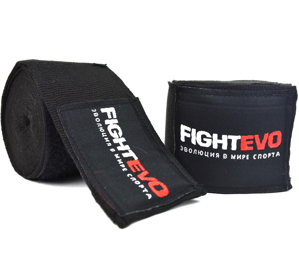 Бинты для бокса  FightEvo 5m Black