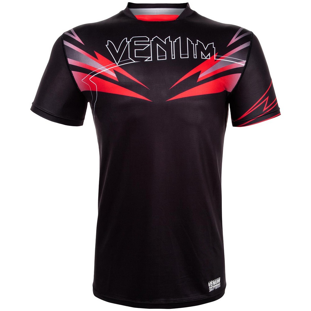 Купить Футболка Venum Sharp 3.0 Dry Tech Tshirt - Black/Red, 4523_bk_rd