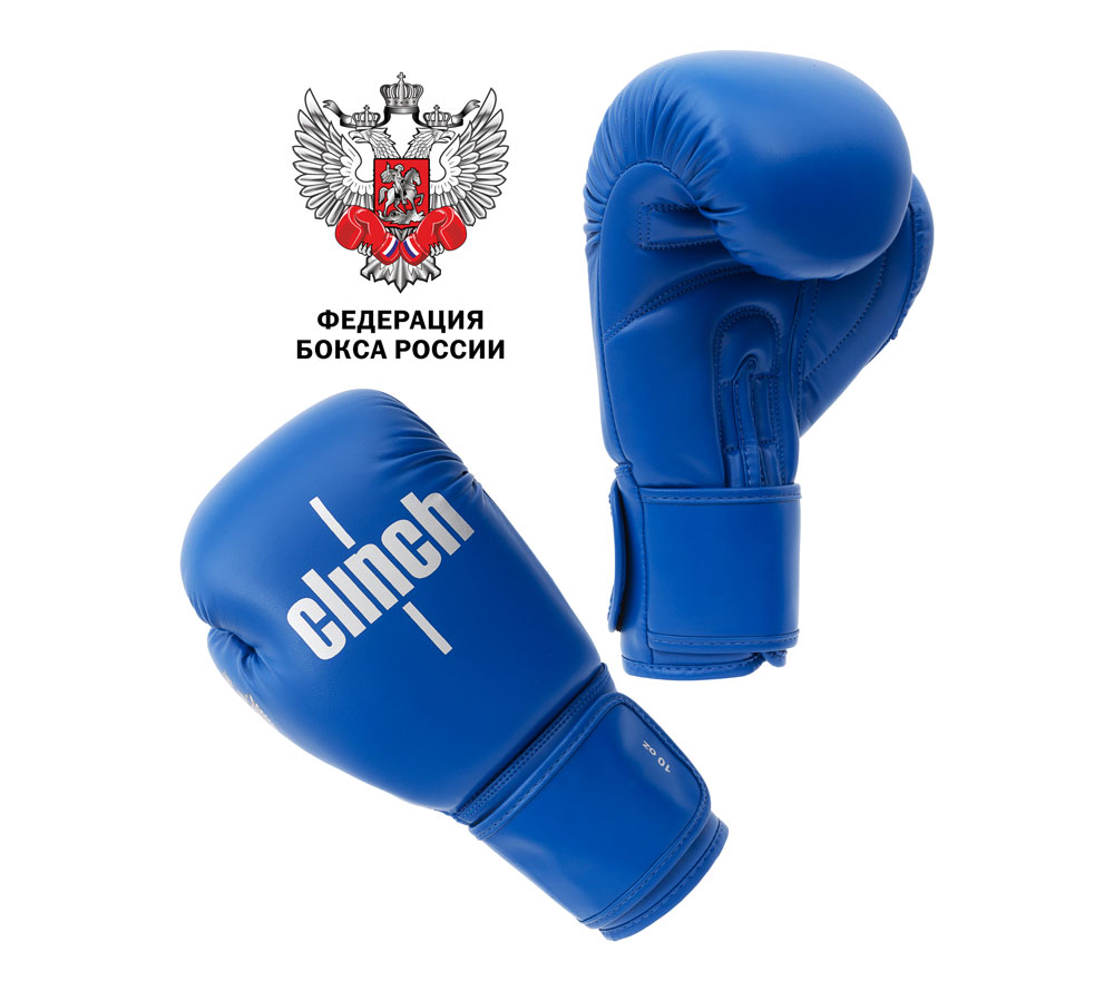 Перчатки для бокса Clinch Olimp Синий