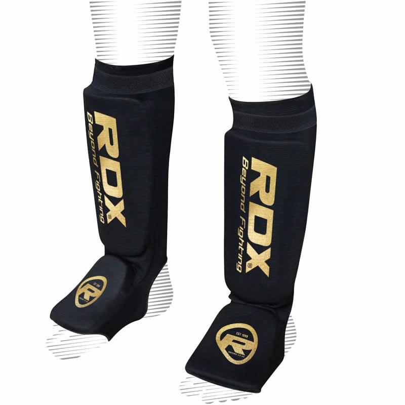 Купить Щитки RDX Hosiery Shin Instep Foam Black/Gold, 3787_bk_gd