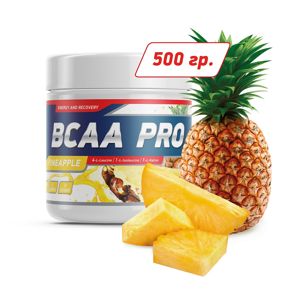 Купить Аминокислота Geneticlab BCAA Pro 500gr/40serv Pineapple, 5739_pin