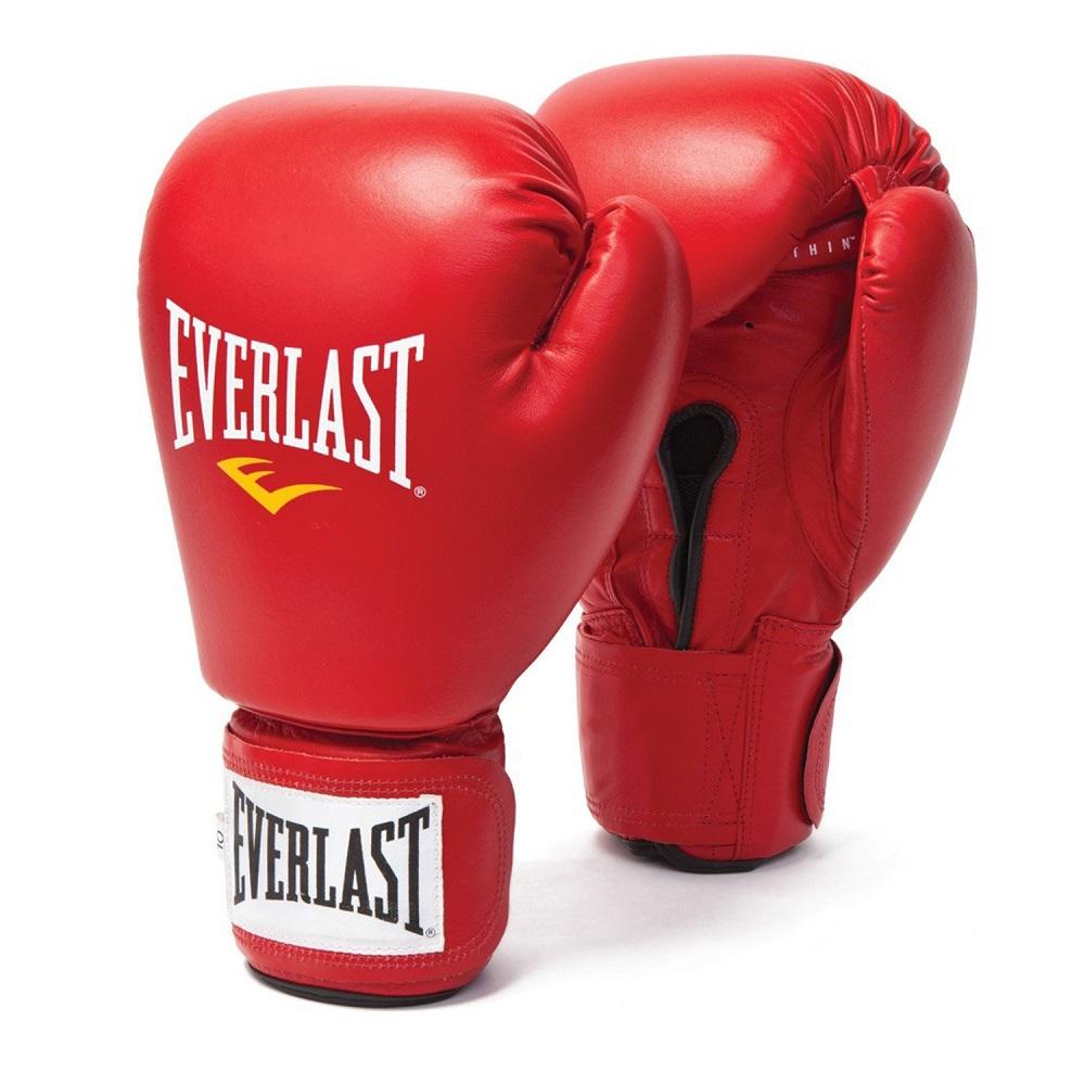 Купить Перчатки для бокса Everlast Amateur Cometition PU Red, 5841_rd