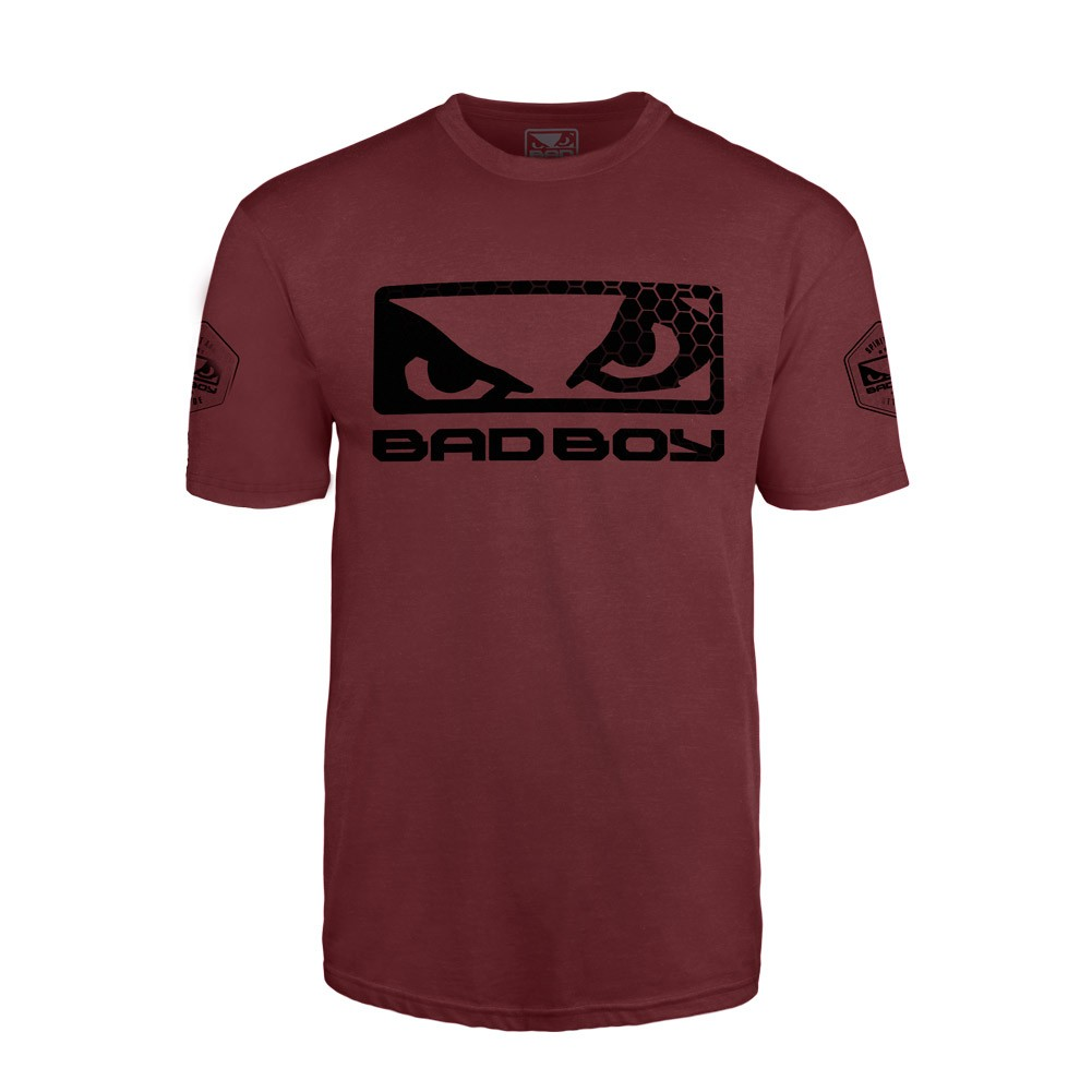 Купить Футболка Bad Boy Prime Walkout T-shirt Burgundy/Black, 5341_rd