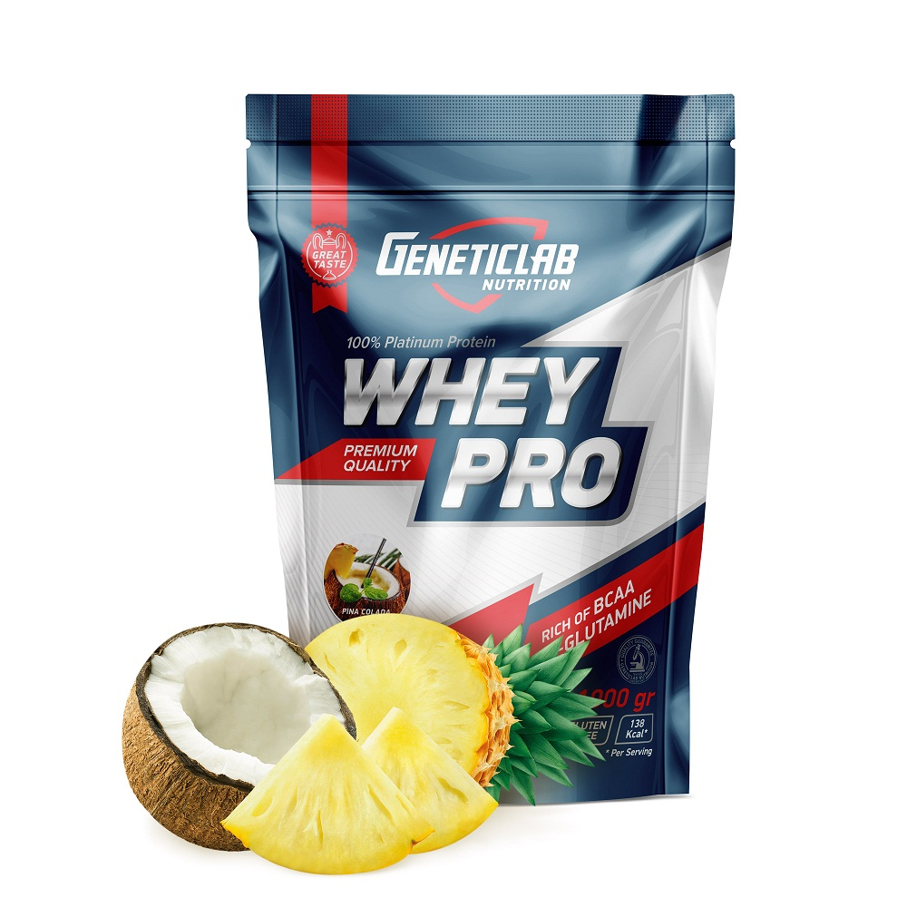 Купить Протеин Geneticlab Whey Pro 1000gr/30serv Pina colada, 5730_pin_col